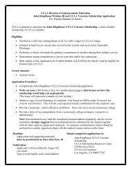 John Ringlbauer/Wallace Brown UCLA Veteran's Scholarship