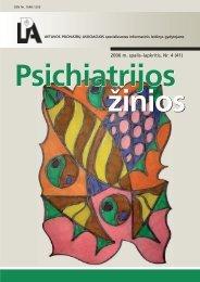 psichiatrijos zinios 2006_4 SPAUDAI.pmd - Lietuvos psichiatrų ...