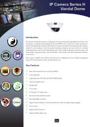 IP Camera Series H Vandal Dome - Dax Networks