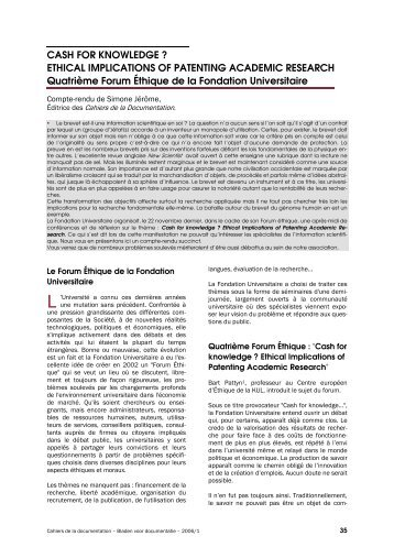 ETHICAL IMPLICATIONS OF PATENTING ACADEMIC ... - ABD-BVD