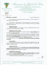 circular nº.1 conselho arbitragem - normas e instruções