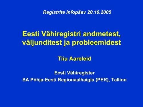 Eesti Vähiregister