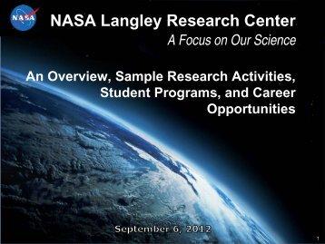 NASA Langley Presentation 9-6-12 - Department of Atmospheric ...