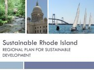 Regional Plan for Sustainable Development - RhodeMap RI