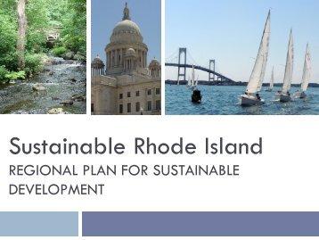 Regional Plan for Sustainable Development - RhodeMap RI