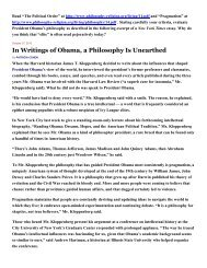 In Writings of Obama, a Philosophy Is Unearthed - Philosophy and ...