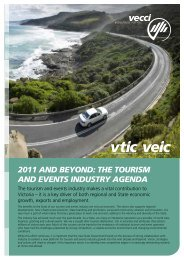 VECCI's 2011 Tourism and Events Policy Paper