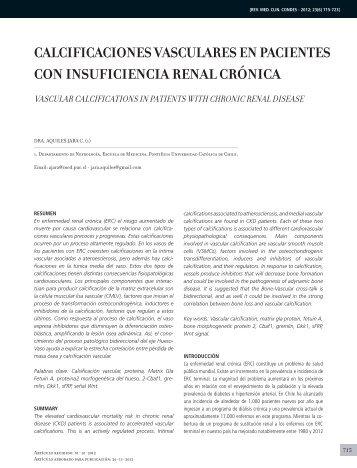 calcificaciones vasculares en pacientes con insuficiencia renal crónica