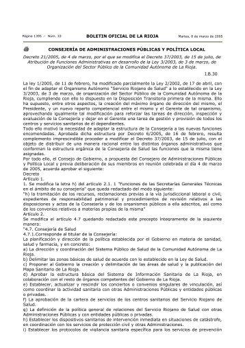BOLETIN OFICIAL DE LA RIOJA CONSEJERÍA DE ...