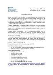 Partnerības nolikums e-prasmju nedēļa 2011 - LIKTA