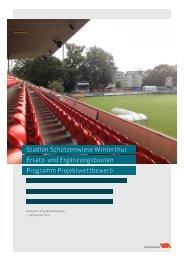 Programm Projektwettbewerb Ersatz - Departement Bau - Winterthur