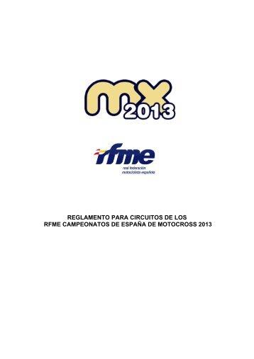 Reglamento para circuitos del RFME Campeonato de España de ...