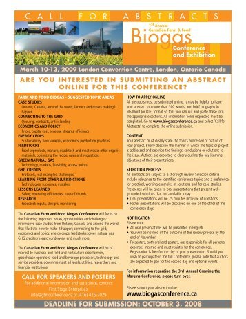 Biogas - Green Rural Opportunities Summit and Exhibition