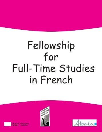 fellowship for full-time studies in french - ALIS
