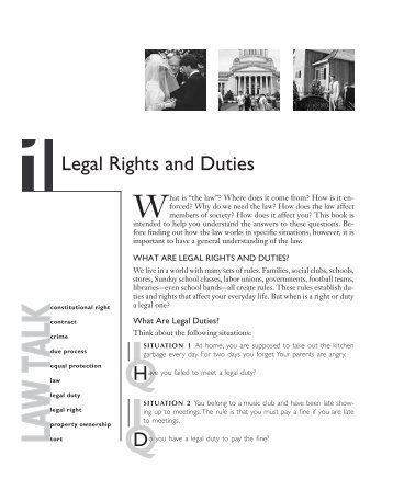 Ch1 Legal Rights and Duties - State Bar of Georgia