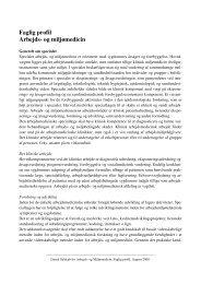 Faglig profil Arbejds- og miljømedicin - DASAM