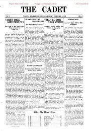 The Cadet. VMI Newspaper. February 08, 1913 - New Page 1 ...