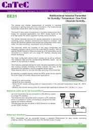 Multifunctional Industrial Transmitter for Humidity / Temperature ...
