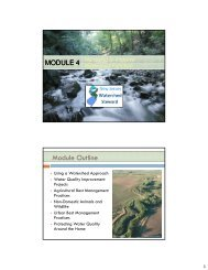 Module 4 - Managing to Improve Watershed Function