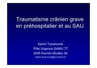 traumatisme cranien grave - SMUR BMPM