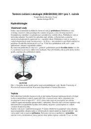 Terénní cvičení z ekologie (KBI/EKO03) 2011 pro 1. ročník ...