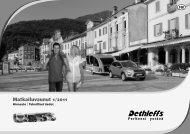 Matkailuvaunut - Hinnasto ja teknilliset tiedot 2011 - Dethleffs