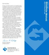 Report to Policyholders/08 - Goodville Mutual Casualty Company