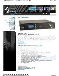 Digitool MX Programmable Digital Processor Page 1 of 2 ...