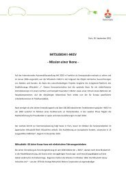 MITSUBISHI i-MiEV - MITSUBISHI MOTORS Deutschland