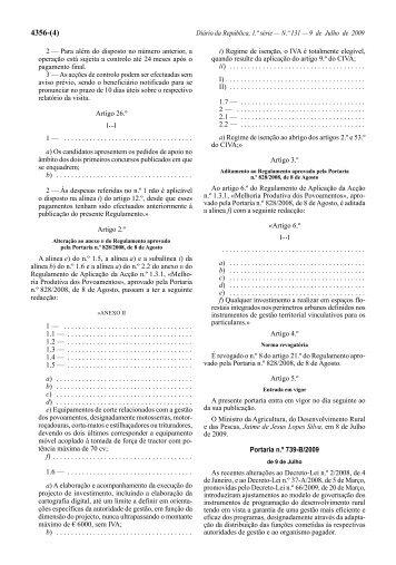 Portaria n.º 739-B/2009 - Diário da República Electrónico
