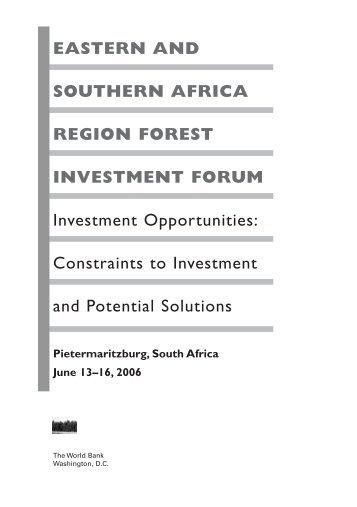 Investment Forum Proceedings - PROFOR