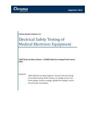 Electrical Safety Testing of Medical Electronic Equipment - Chroma ...