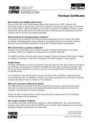 Fact Sheet Purchase Certificates - wsib