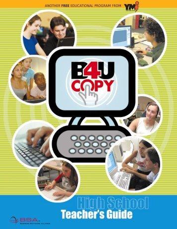 High School Teach Guide - B4UCopy