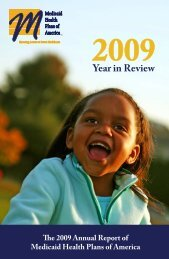 2009: Year in Review - Medicaid Health Plans of America