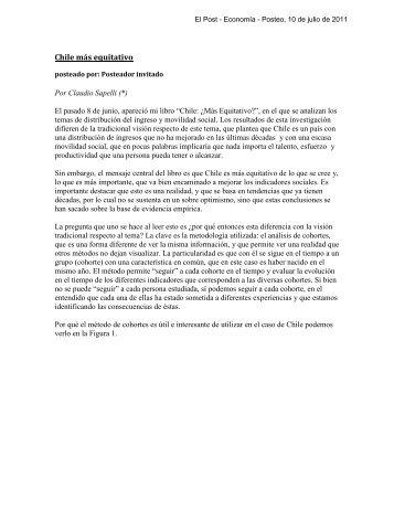 Chile más equitativo - Instituto de Economía - Pontificia Universidad ...