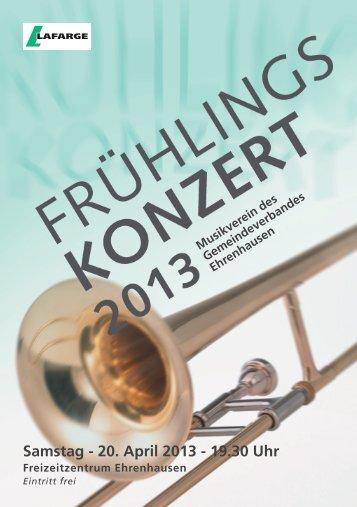 Samstag - 20. April 2013 - 19.30 Uhr - Musikverein des ...