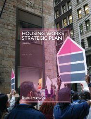 Download our five-year strategic plan - Housing Works