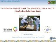 Presentazione risultati - (IZS) delle Regioni Lazio e Toscana