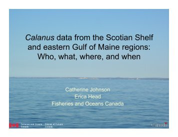 Calanus data from the Scotian Shelf and eastern Gulf of ... - rargom