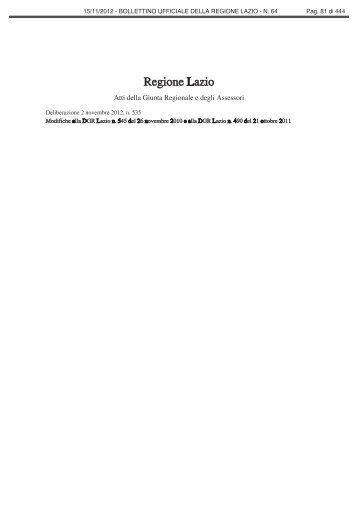 Deliberazione 2 novembre 2012, n. 535 - Comune di Alatri