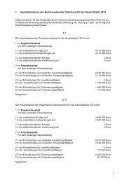 Haushaltssatzung des BVO Haushaltsjahr 2013 - Bezirksverband ...