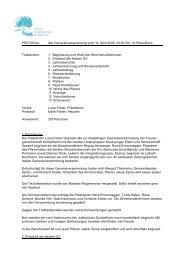 Protokoll Generalversammlung 2005 - Frauengemeinschaft ...