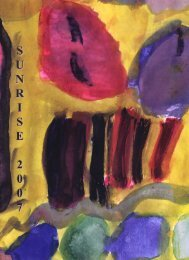 Page 1 Page 2 Page 3 unrise 2007 New Beginnings Jazz is like me ...