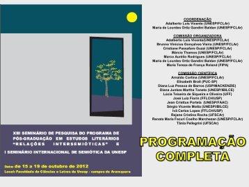 COORDENAÇÃO Adalberto Luis Vicente (UNESP/FCLAr) Maria de ...