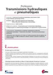 Fiche Commission Transmissions Hydrauliques - Juin 2013 - Cetim