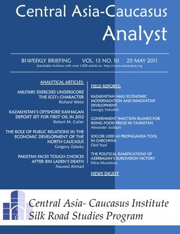 No. 10, May 25 issue - Central Asia-Caucasus Institute and Silk ...