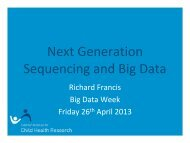 Next Generation Sequencing - iVEC