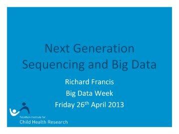 Next Generation Sequencing - iVEC