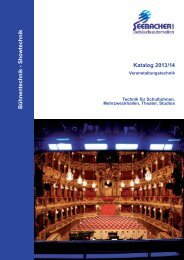 Katalog 2013/14 Bühnentechnik - Sho wtechnik - Seebacher GmbH